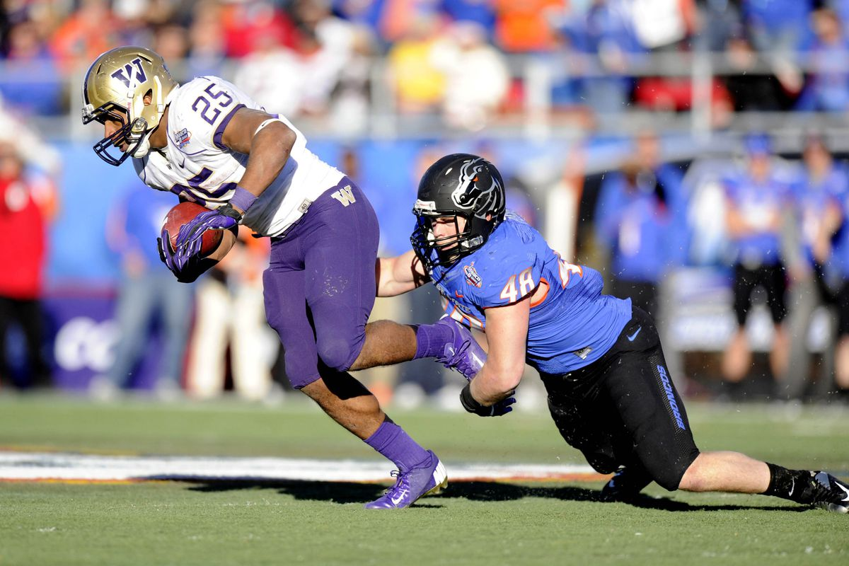 Boise State's run defense was smothered by Washington's Bishop Sankey in the 2012 Las Vegas Bowl.