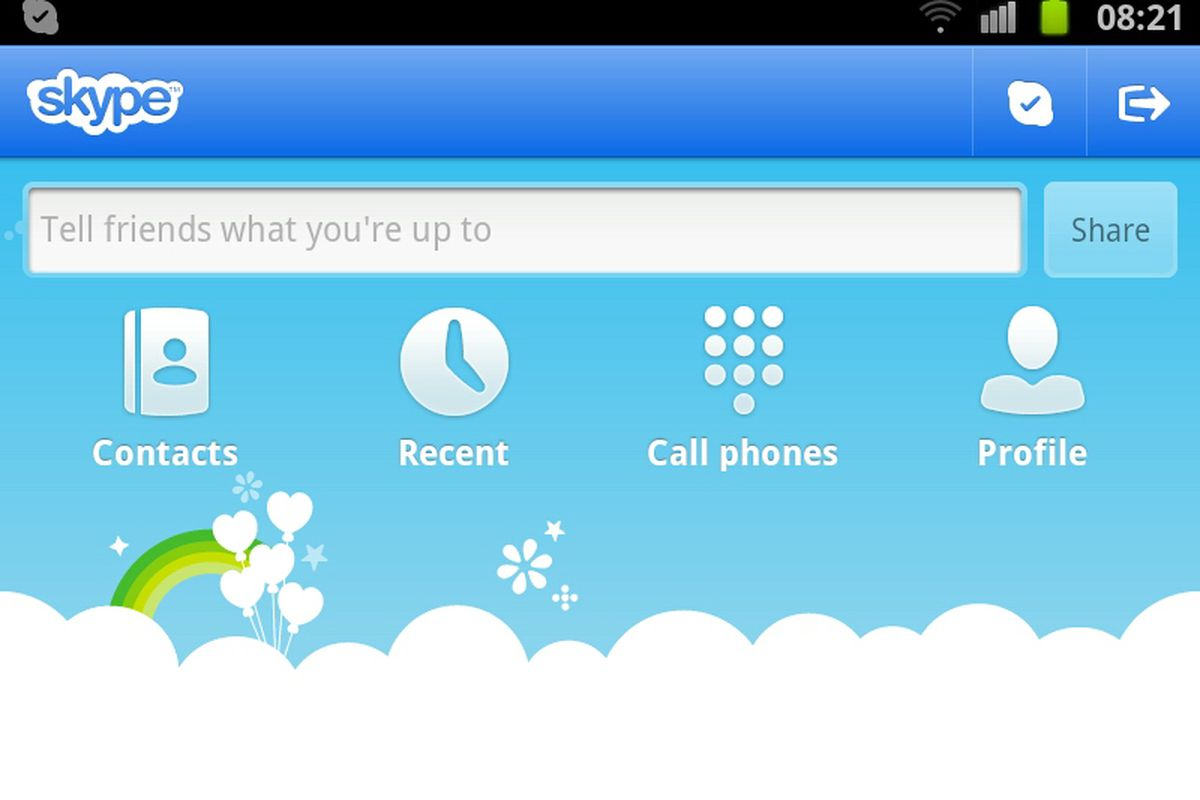 Skype 2 7 for Android adds video calling to Galaxy S II Epic