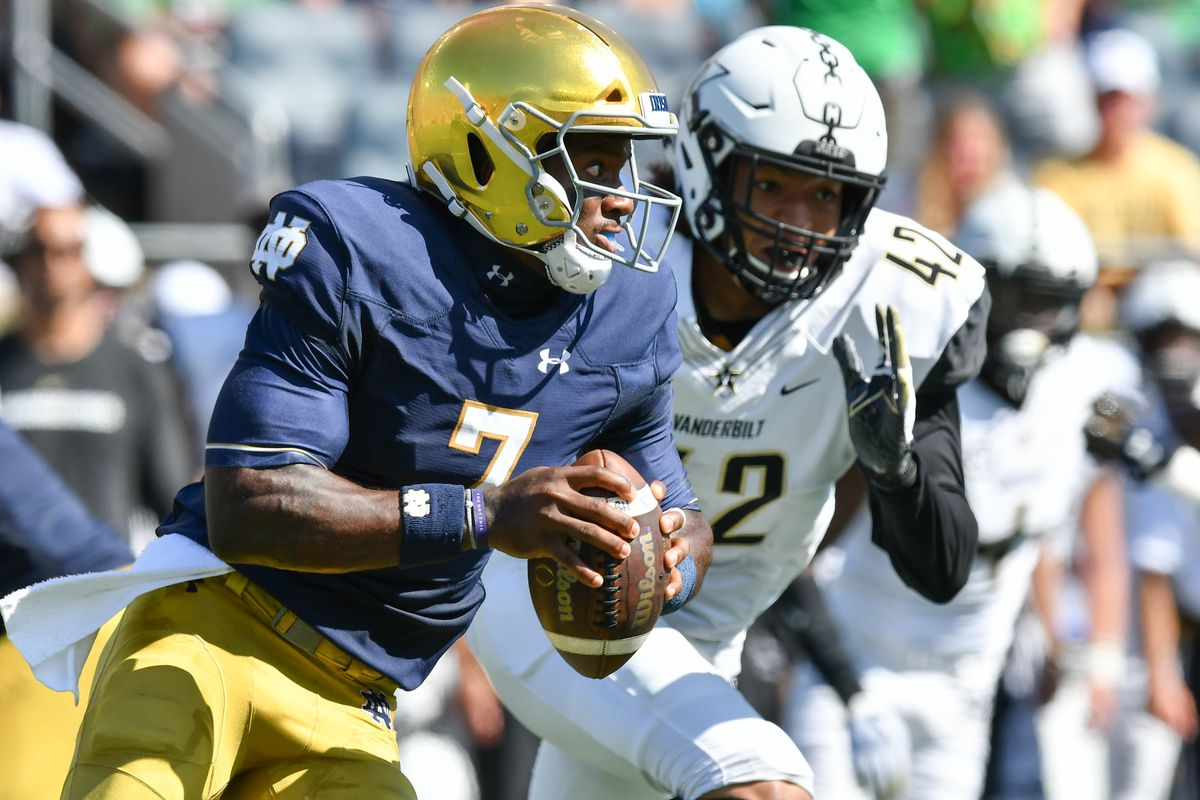 NCAA Football: Vanderbilt at Notre Dame