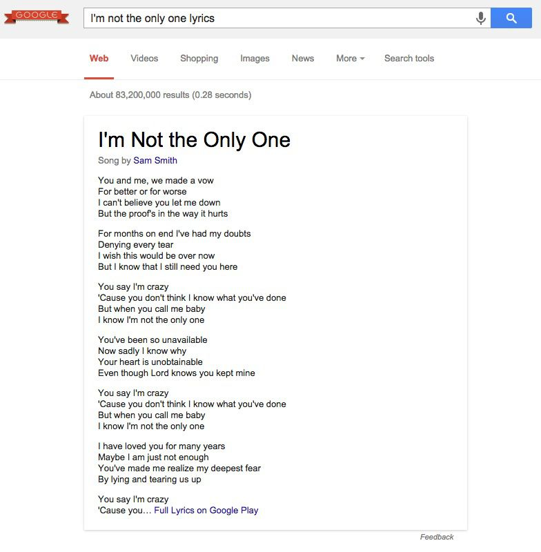 Lyric songs with apple in the lyrics : Google now shows song lyrics with search results - The Verge