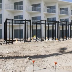 Additional cabanas are being built in the space.