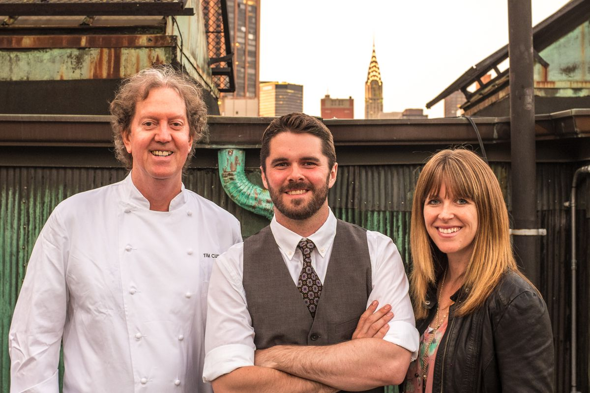 Tim Cushman, Ted Kilpatrick (who created the bar program for the rooftop bar), and Nancy Cushman