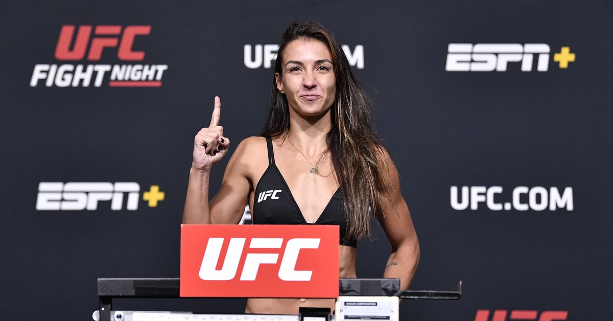 Amanda Ribas positive for COVID-19, removed from UFC Vegas 26 bout with Angela Hill