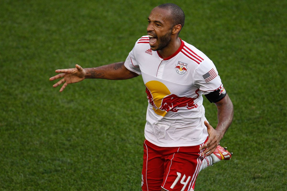 Thierry Henry of the New York Red Bulls.  (Photo by Mike Stobe/Getty Images for New York Red Bulls)