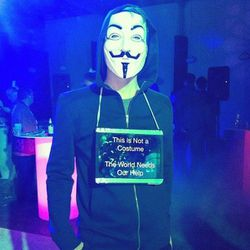 The Guy Fawkes mask never stops being creepy