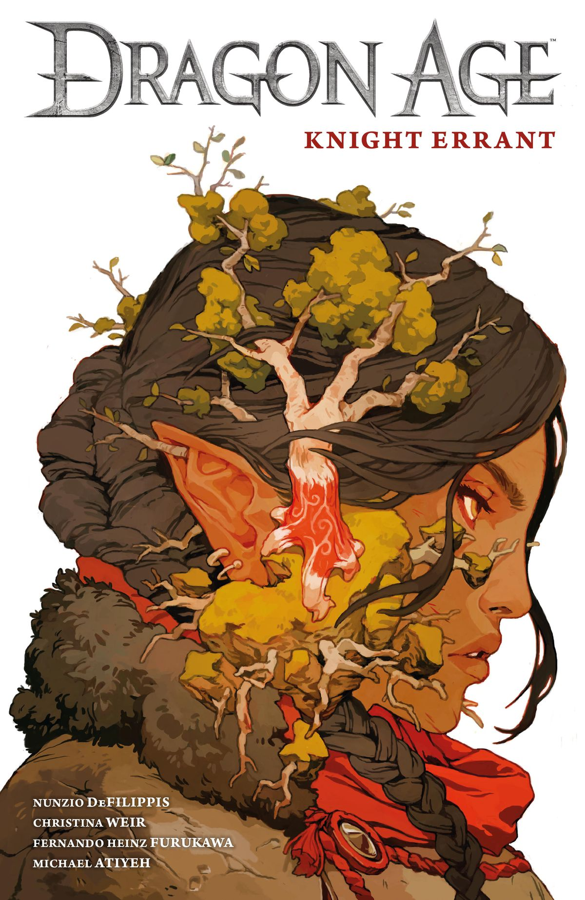 The cover of the trade collection of Dragon Age: Knight Errant