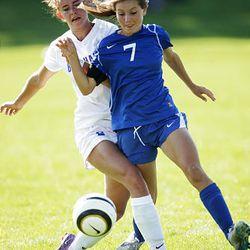 Bingham/Pleasant Grove in prep soccer in Salt Lake County Thursday, Sept. 13, 2012.