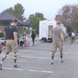 """This still is from """"Not A War Story."""" The new documentary premieres June 30 in Los Angeles and tells the behind-the-scenes story of """"Range 15,"""" a darkly comedic zombie-apocalypse movie starring only veterans and meant to poke fun at how Hollywood typically portrays the military."""