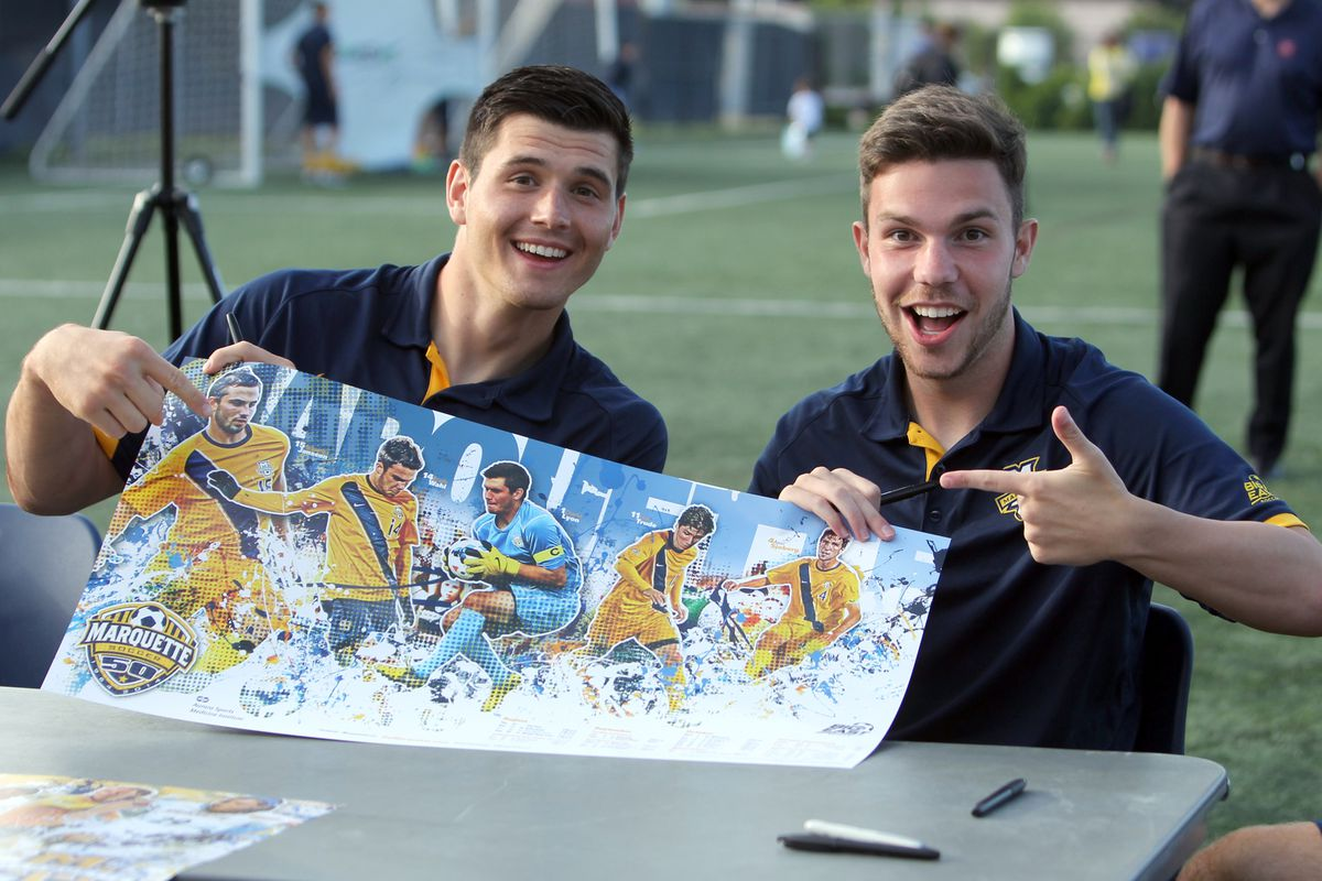 I'm out of new pictures of David Selvaggi, so here's Charlie Lyon and Brady Wahl being goofy at Fan Fest.