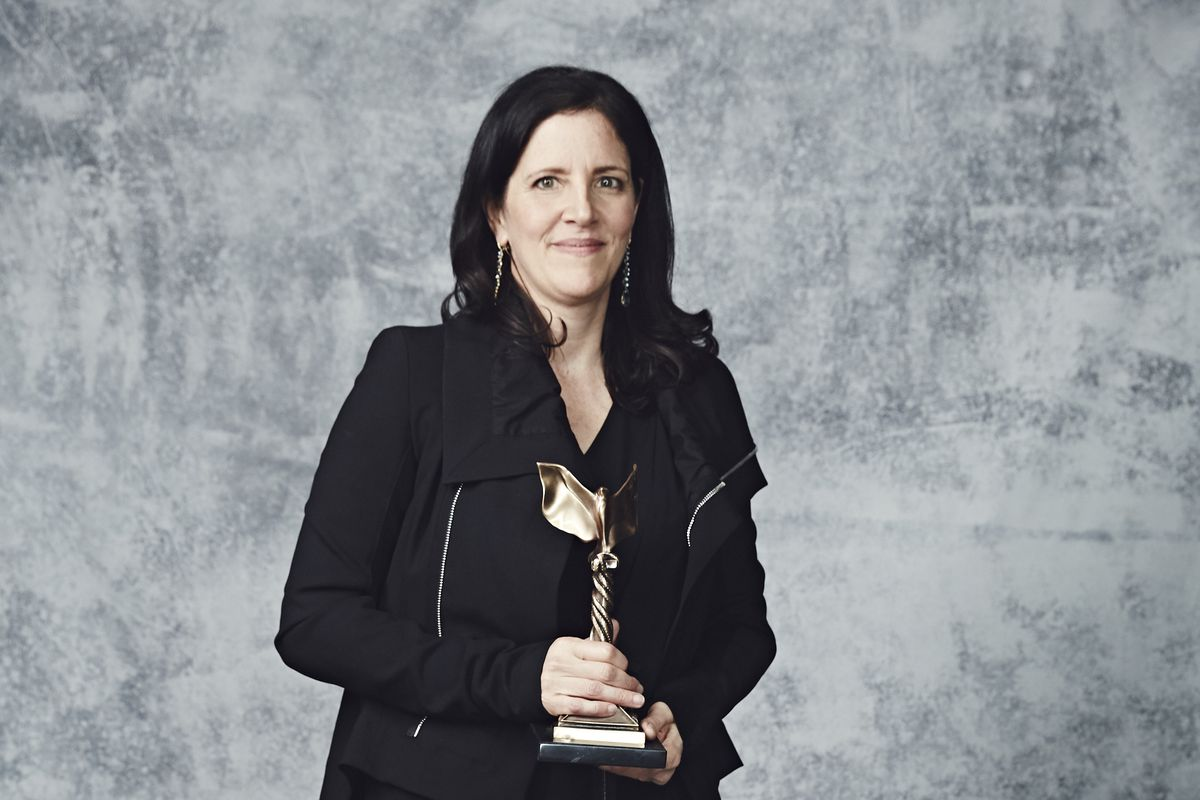Laura Poitras poses for a portrait at the 30th Film Independent Spirit Awards on February 21, 2015. She won Best Documentary for Citizenfour, her film about Ed Snowden.