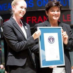 <em>Image via Express</em><br /><br />Express was presented with official acknowledgement when the show broke the Guinness World Record.
