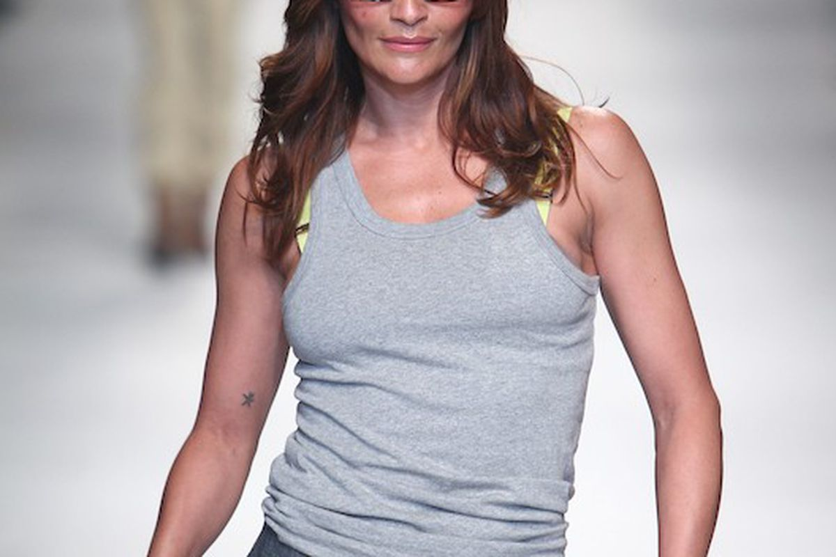 Helena Christensen at Melbourne Fashion Festival, Photo credit: Getty Images