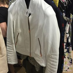 J. Crew Collection leather jacket, $250