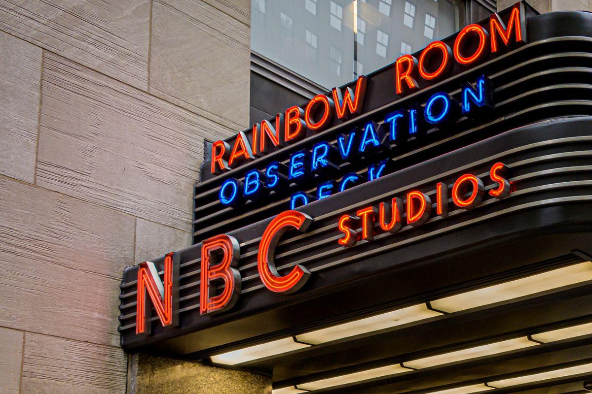 Main entrance to NBC Studion / Comcast Building headqiarters...