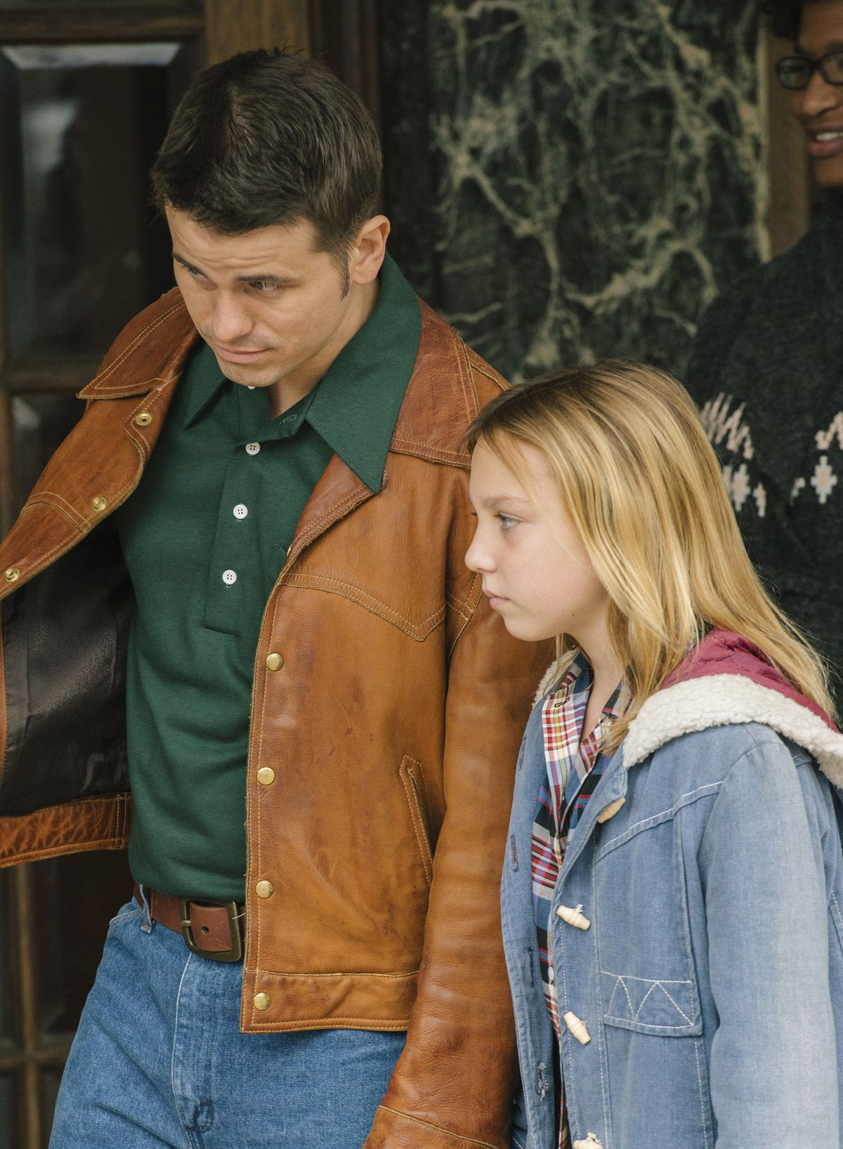"""Track coach Bill (Jason Ritter) wins the trust of 13-year-old Jenny (Isabelle Nelisse) in """"The Tale."""" 