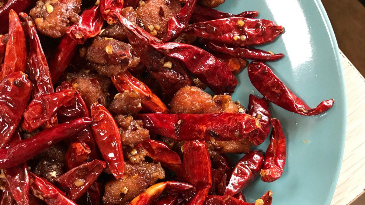 Chongqing spicy chicken from Chong Qing Hot Pot at Atlanta Chinatown