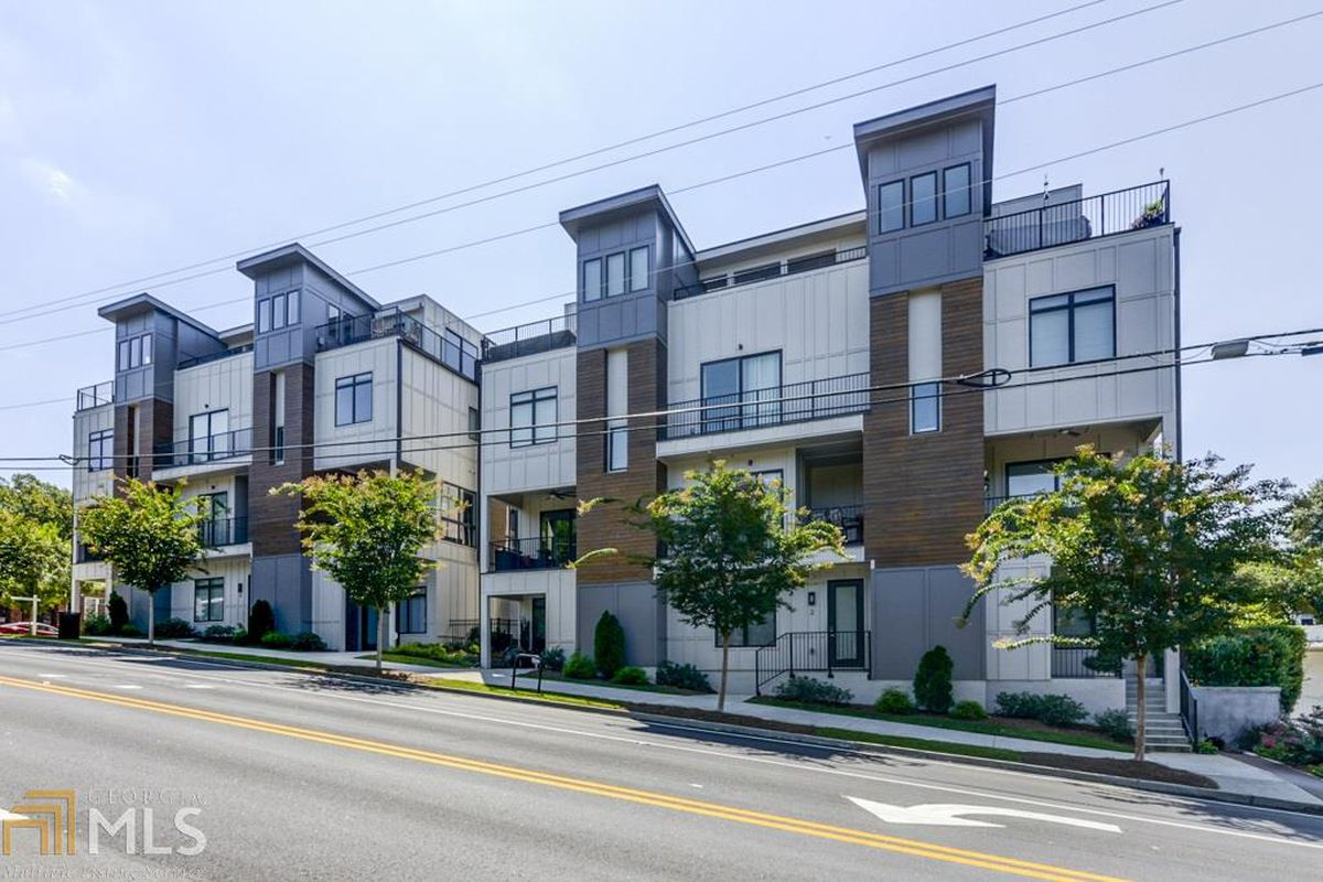 The Sky Hill townhomes in Ponce-Highland Atlanta, where one unit is now for sale.