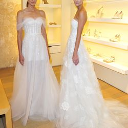 All the heart-eyed emojis for this duo of tulle dresses.