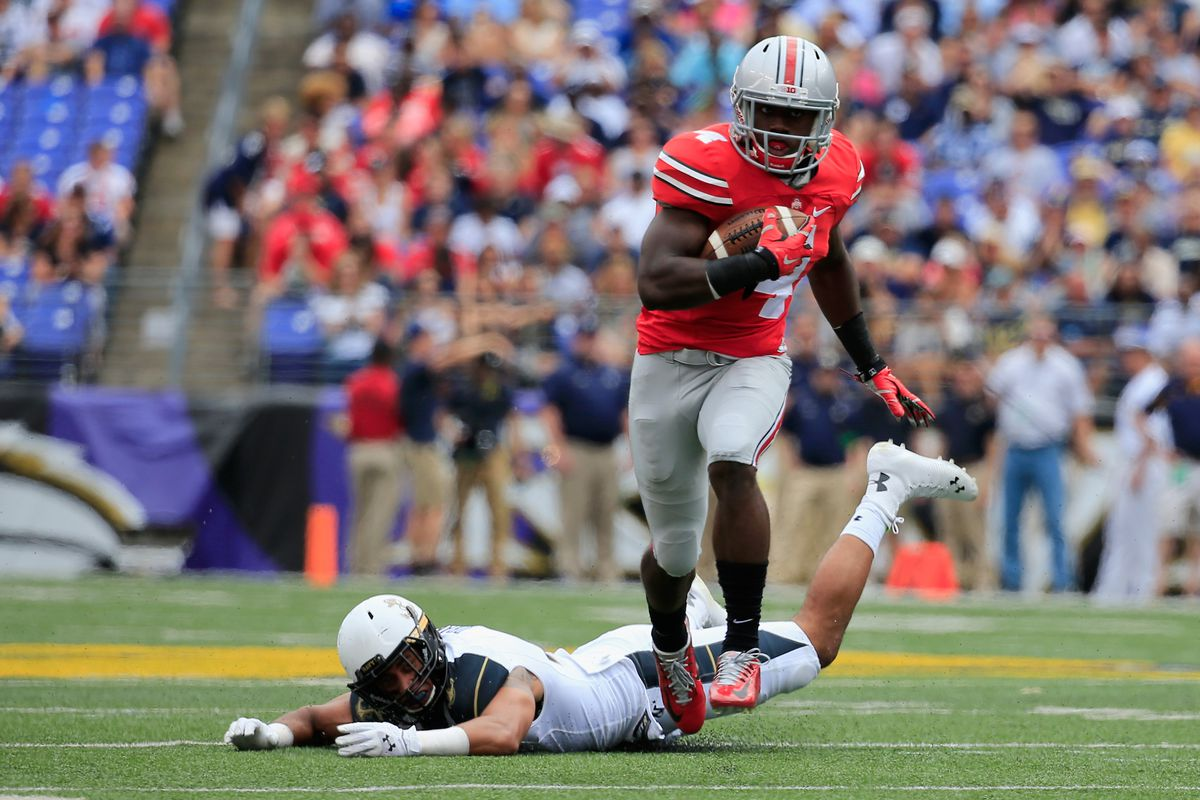 Ohio State's Curtis Samuel played a large part in the Buckeyes win over Navy.