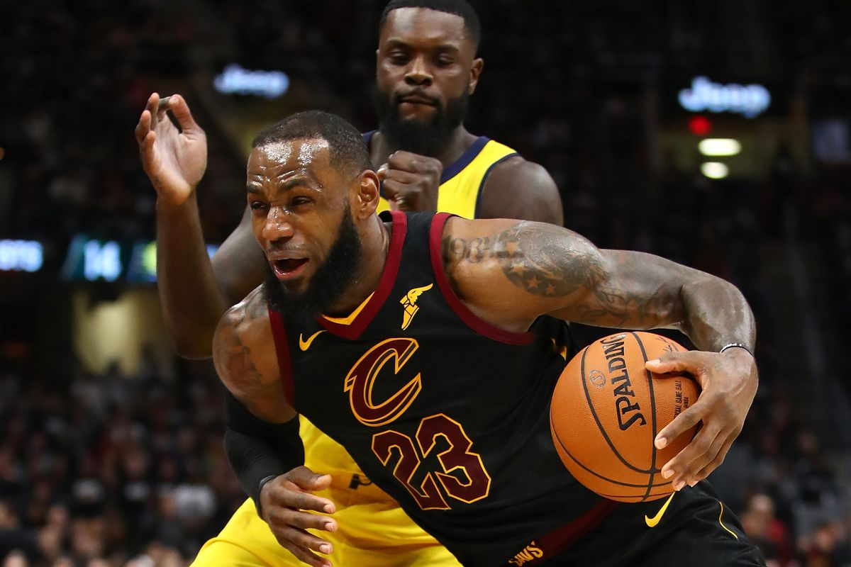 5a31654ba LeBron James saved the Cavaliers when the Pacers wouldn t go away. James  scored 46 points ...