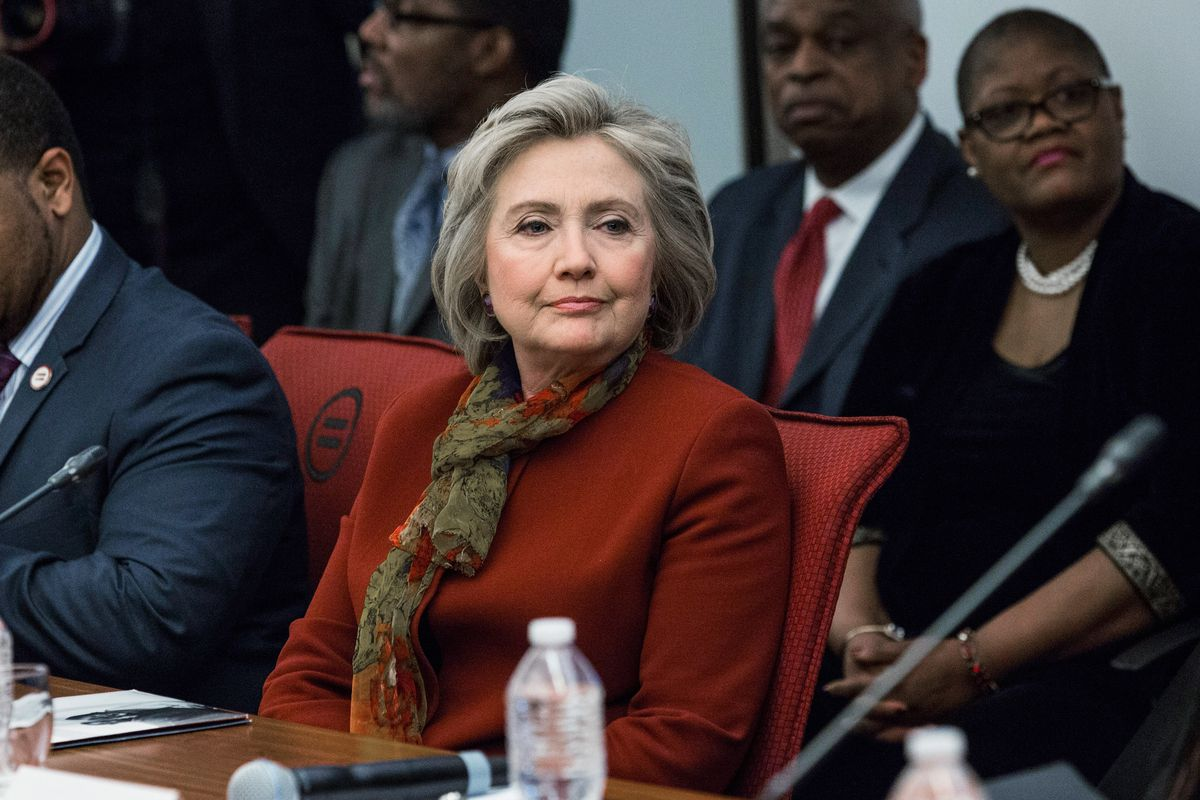 Hillary Clinton meets with civil rights leaders in New York City.