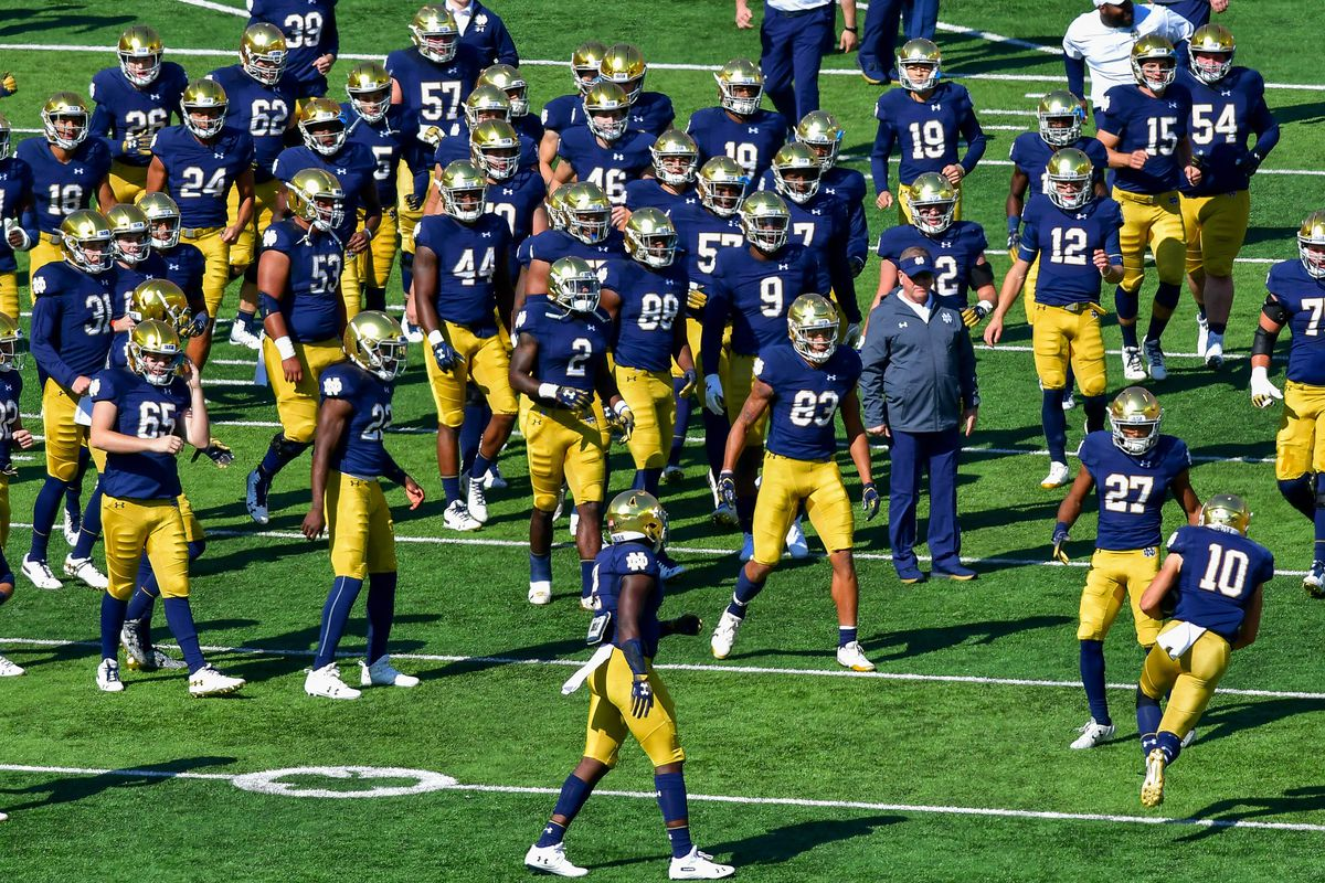 5e0f1bdef Notre Dame Fighting Irish Football  Bye Week Q A - One Foot Down