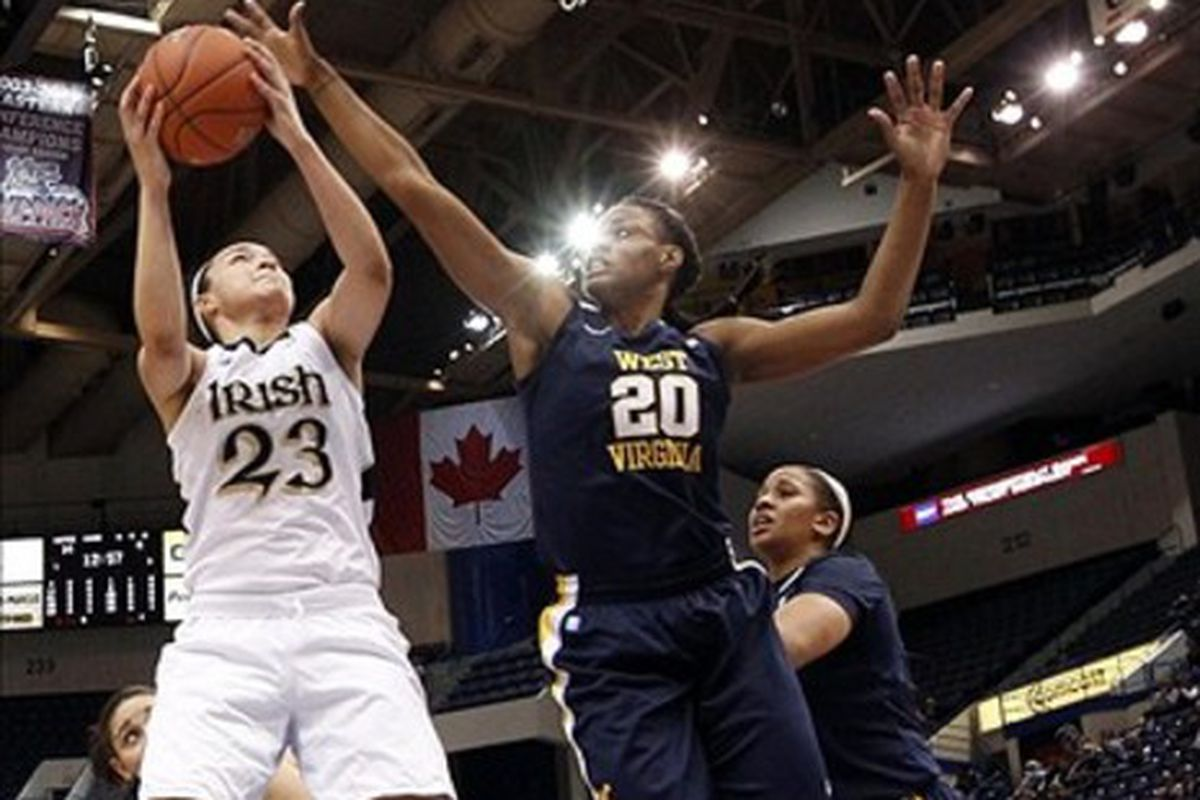 One of the most memorable games of Asya Bussie's career was her performance in West Virginia's win over Notre Dame back in 2012.