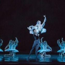 Dancers Victoria Jaiani and Dylan Gutierrez.