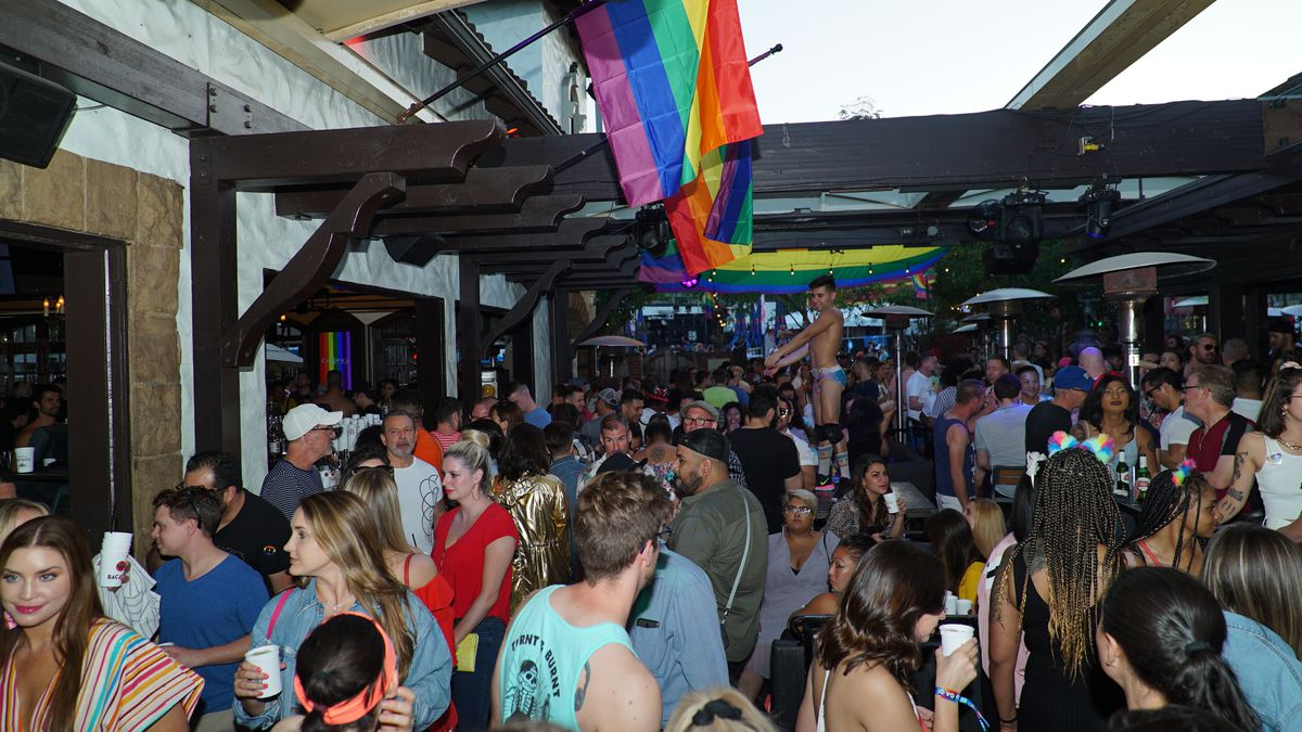 Pride celebration at the Abbey in West Hollywood