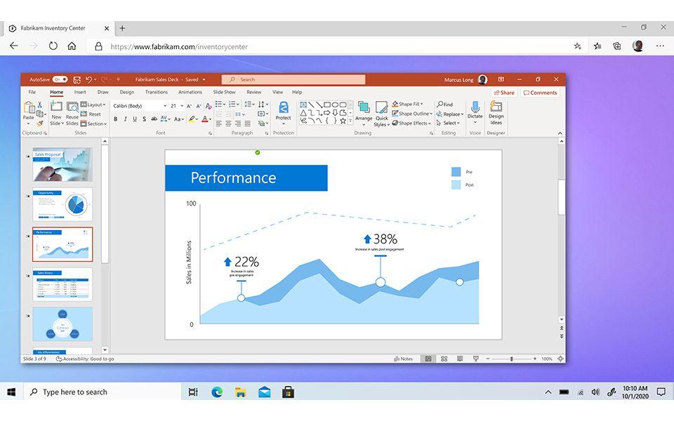 Windows 365 передает ОС в веб-браузер