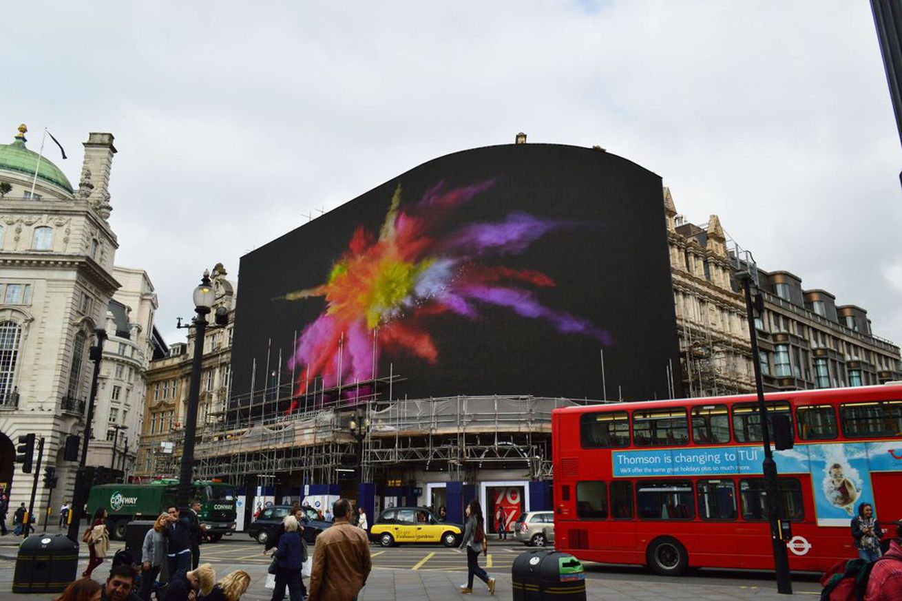 Huge new screen in London's Picadilly Circus will display ads based on nearby cars and people