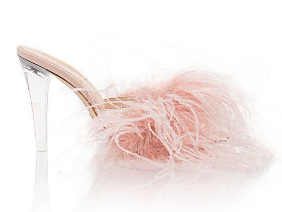Brother Vellies Palms Pump In Blush Satin, $525