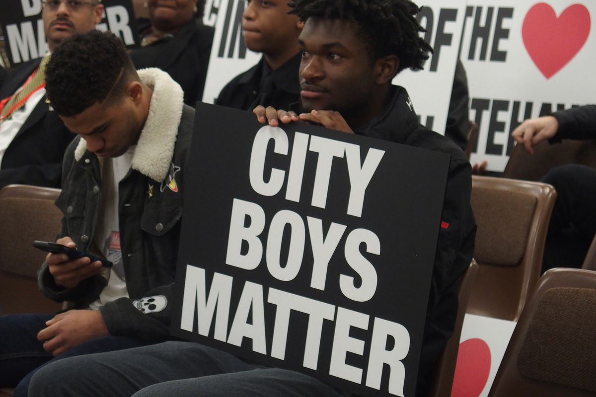 About 40 parents, students, and supporters of City University Boys Preparatory asked the Shelby County Schools board to keep the school open.