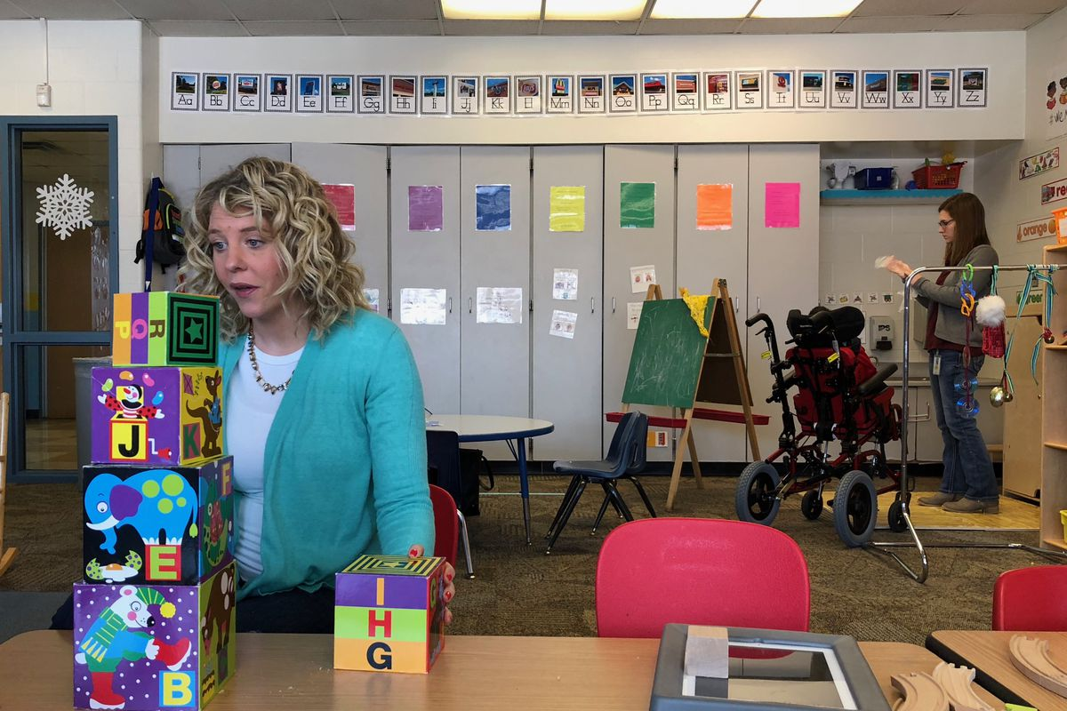 Cate King, a preschool teacher in a developmental classroom at School 48 for children with disabilities, has been with Indianapolis Public Schools for three years.