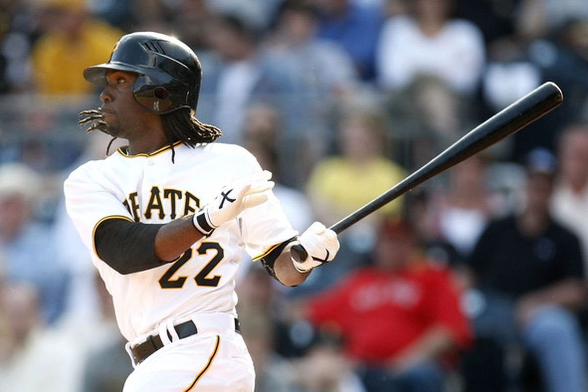 Andrew McCutchen has turned into a legitimate top-tier fantasy star in 2012.   (Photo by Gregory Shamus/Getty Images)