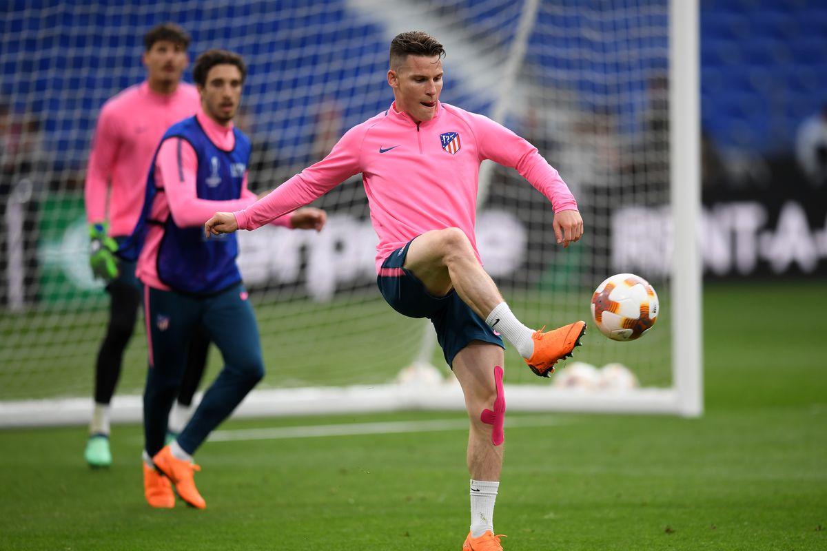 Club Atletico de Madrid Training Session - UEFA Europa League Final Previews