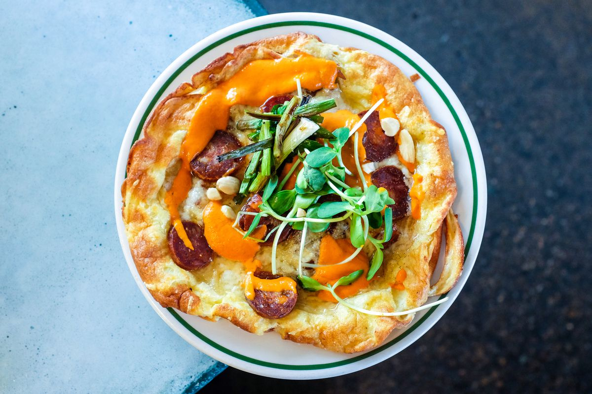 A savory Dutch baby at Milktooth in Indianapolis.