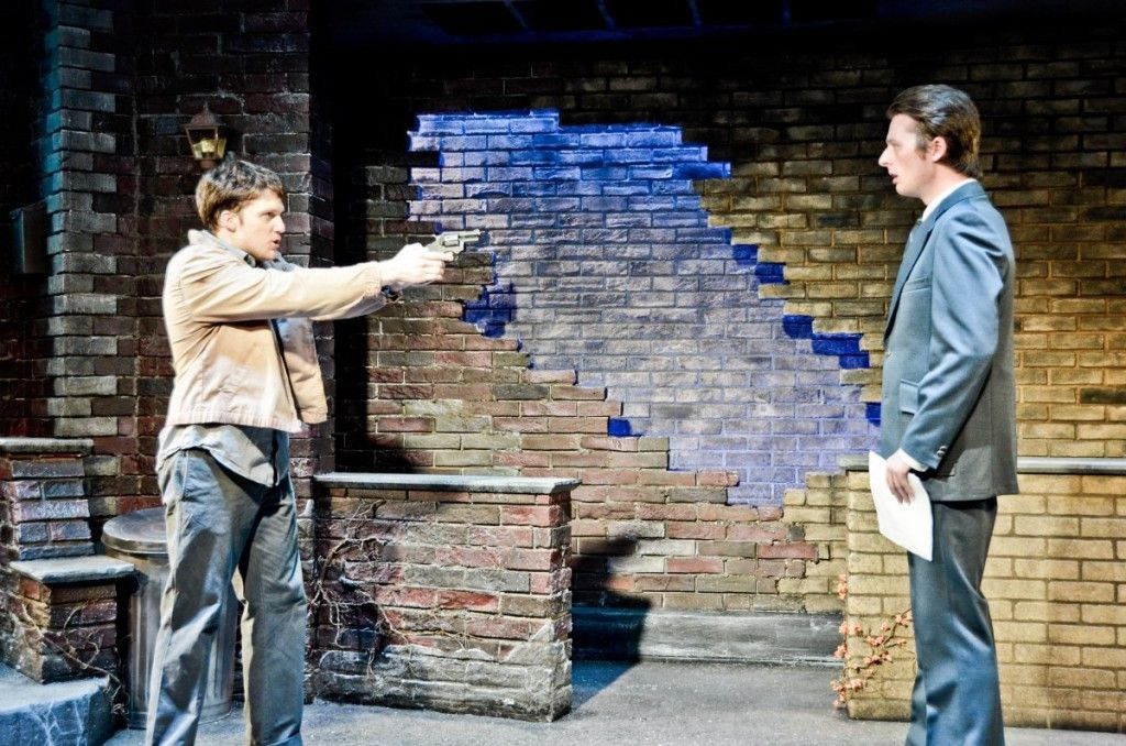 """Carlie Mann (left) plays Mickey and Cody Jolly plays Edward in """"Blood Brothers"""" at THeo Ubique Cabaret Theatre. (Photo: Adam Vaness)"""