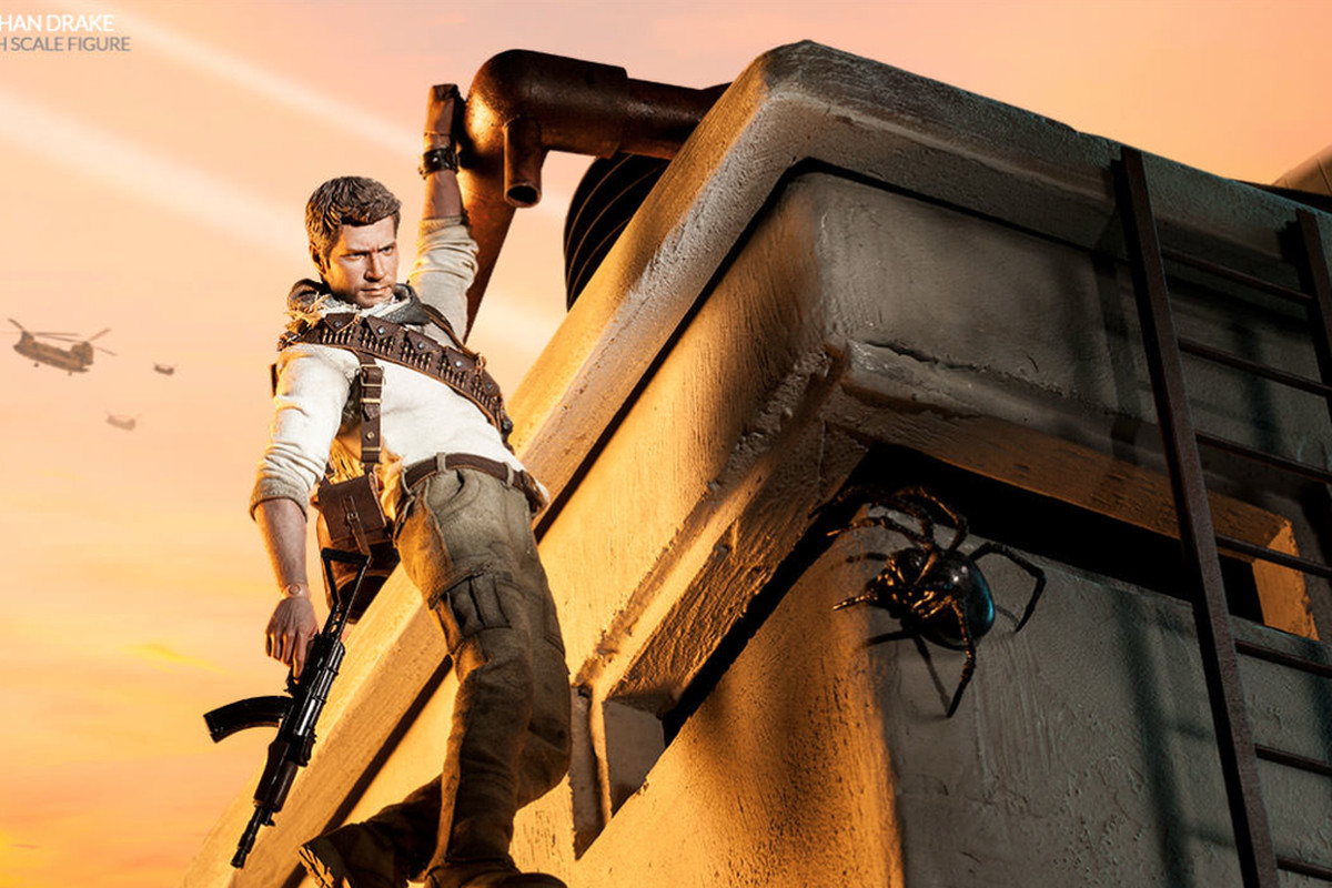 Nathan Drake Action Figure Looks Ready For Climbing Combat Polygon