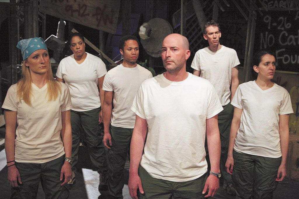 """Pictured in the 2008 production of """"Because They Have No Words"""" are Jennifer Coombs (from left), DuShon Monique Brown, Sean Walton, Tim Maddock, Lawrence Grimm and Marla Caceres.   Christopher Ash Photo"""