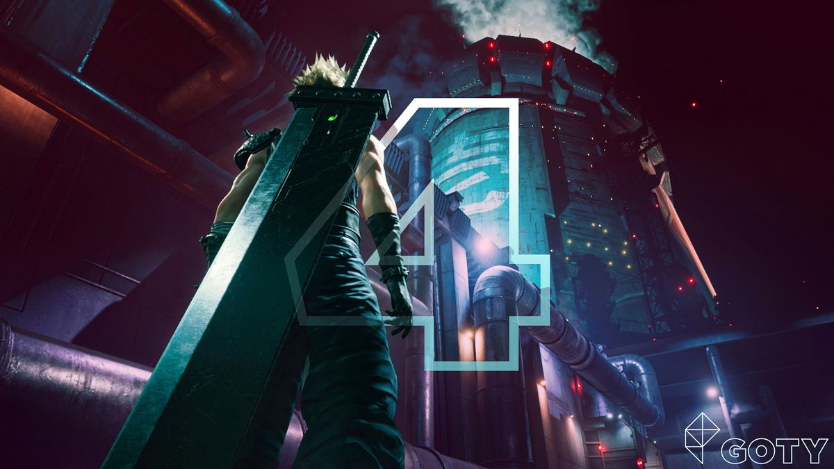Cloud takes a confident stance in Final Fantasy 7 Remake, Polygon's #2 Game of the Year.