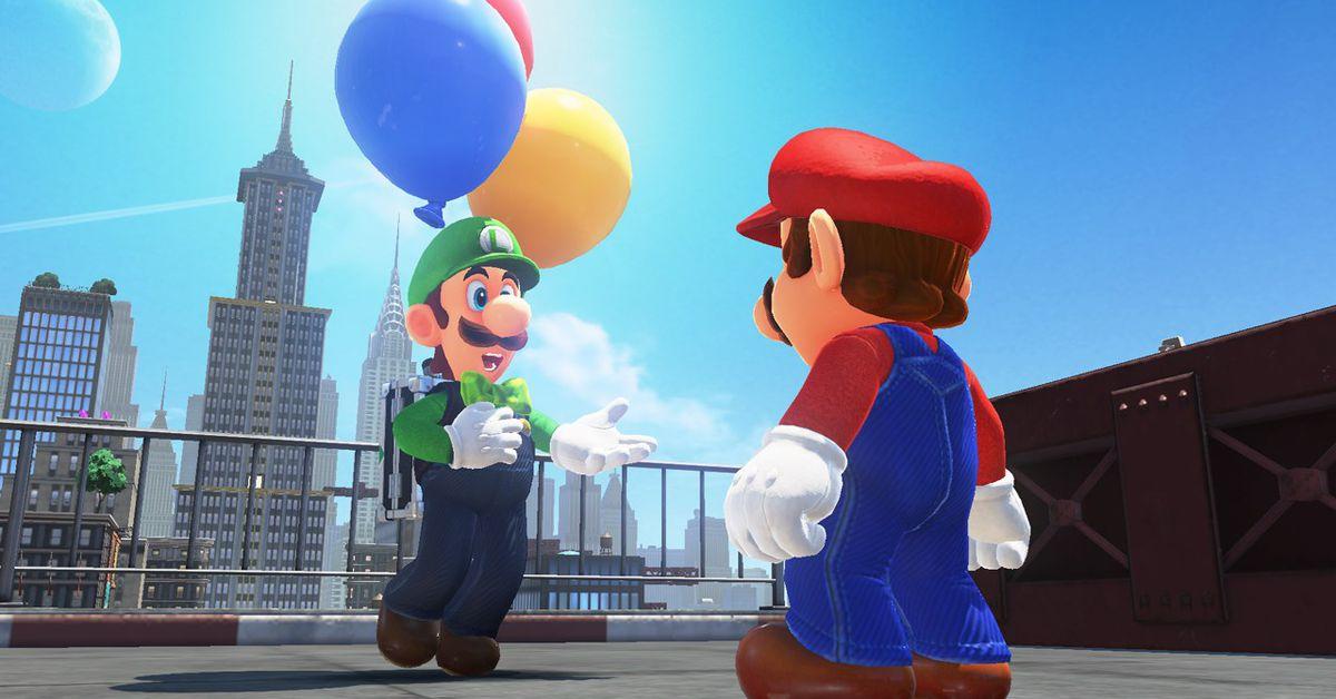 Super Mario Odyssey free DLC adding Luigi balloon hunt