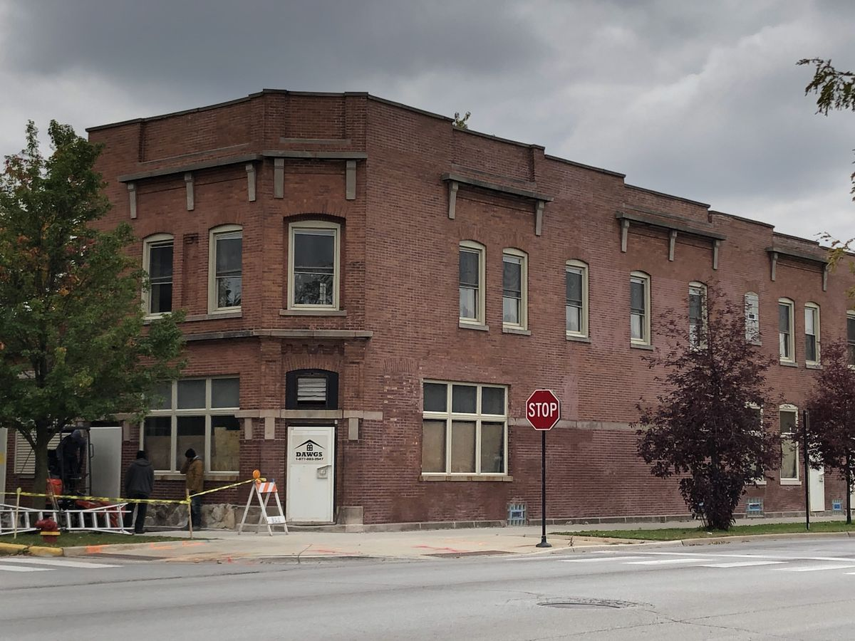 The building at 10300-02 S. Corliss Ave. as seen from 103rd Street.