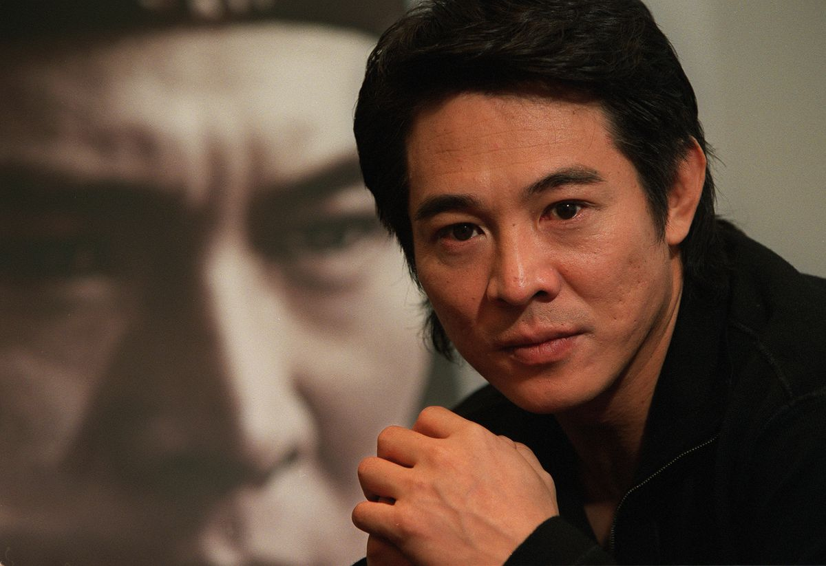 An interview with actor Jet Li Lin-kit at the Hong Kong Convention and Exhibition Centre in Wan Chai. 18 December 2002