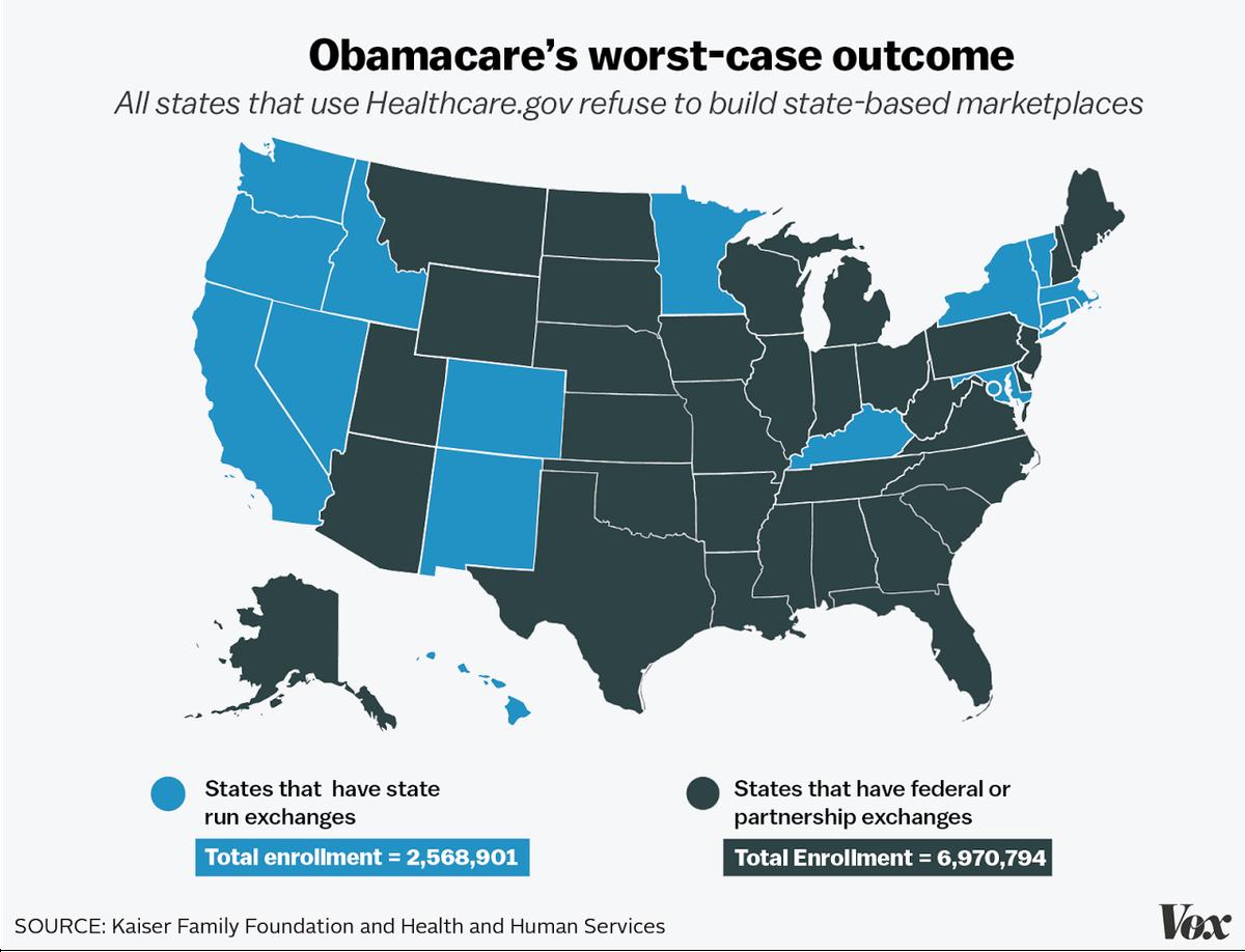 Obamacare map