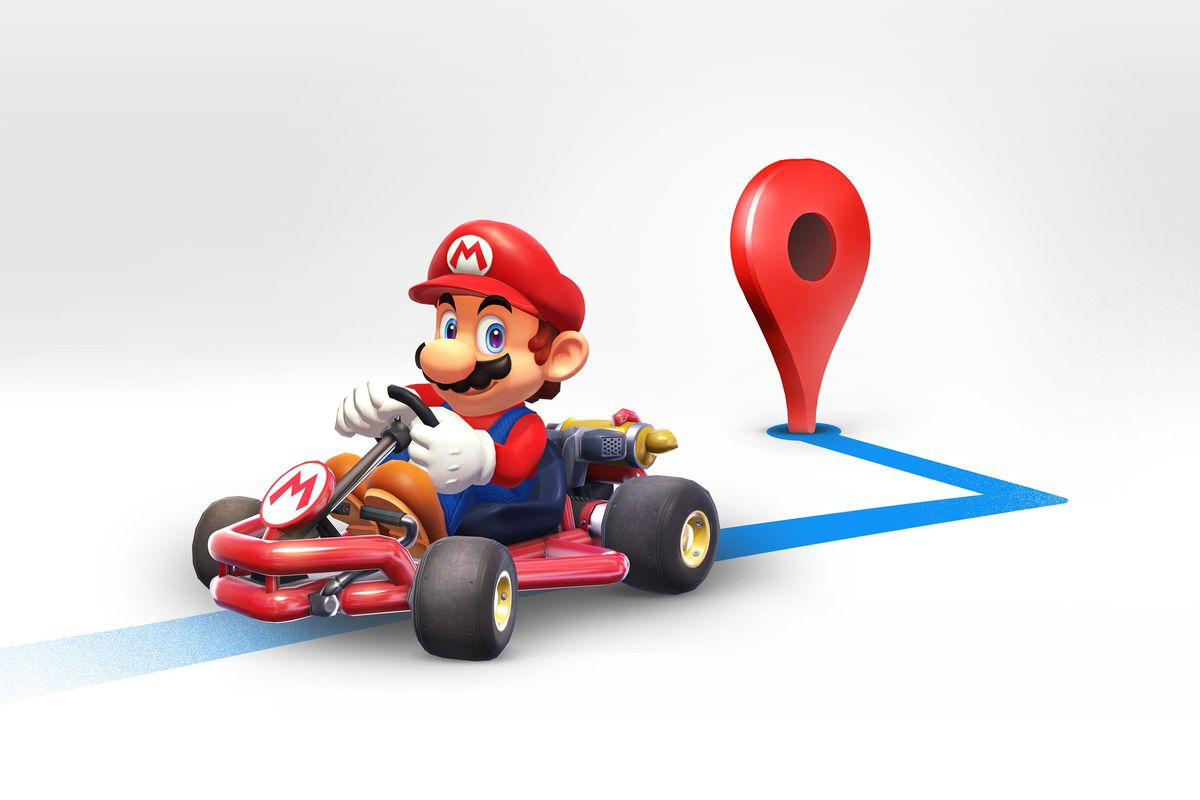 It's Mario Time: Google Maps Adds Super Mario Kart To Navigation