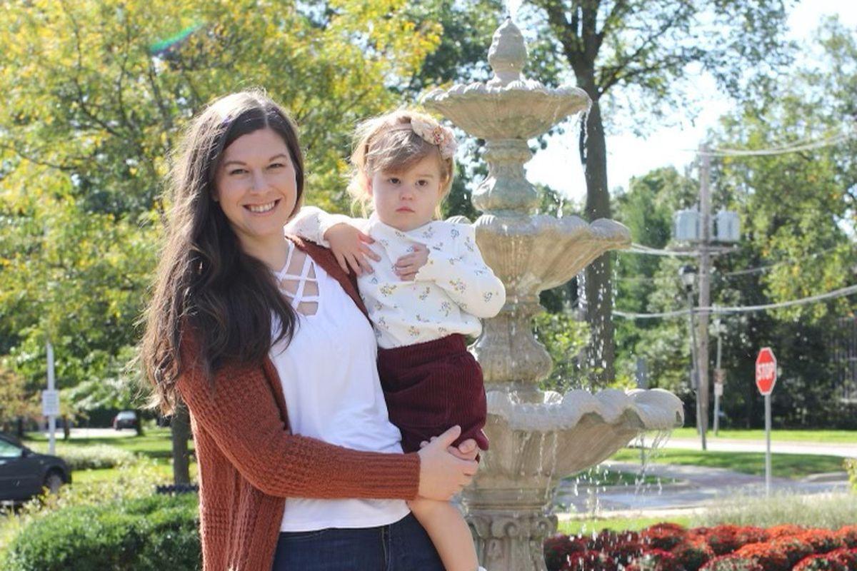 Katie Wilson and her daughter.