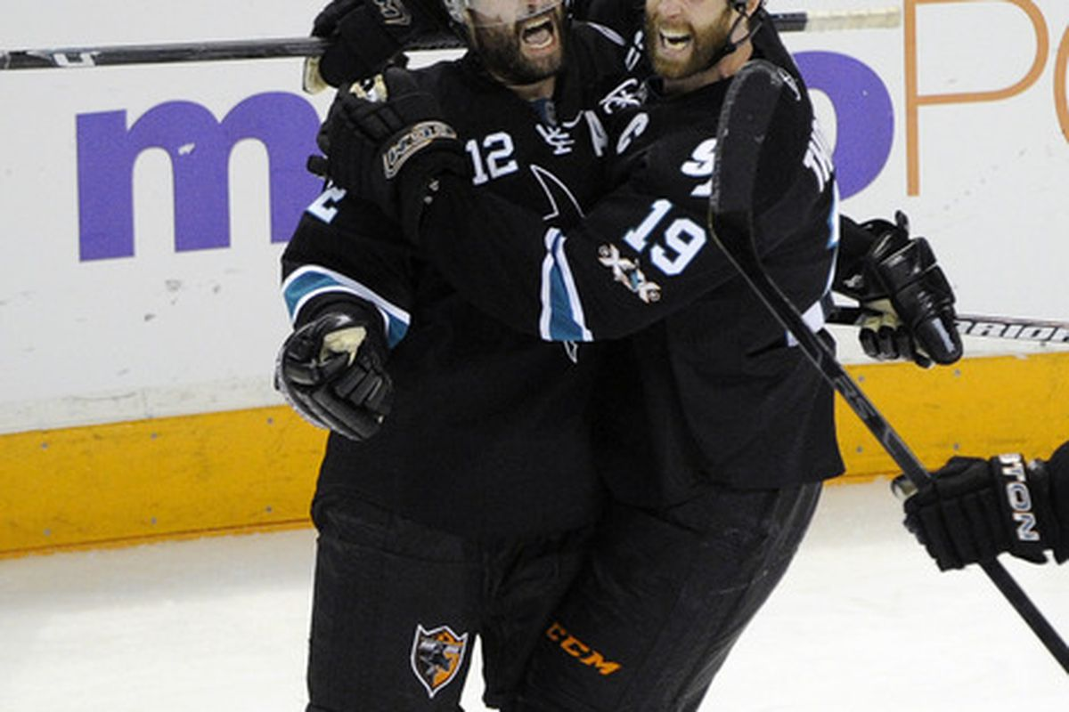 Patrick Marleau and Joe Thornton love to sing show tunes together.