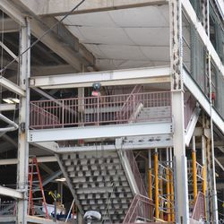 Another view of the new northwest corner staircase -