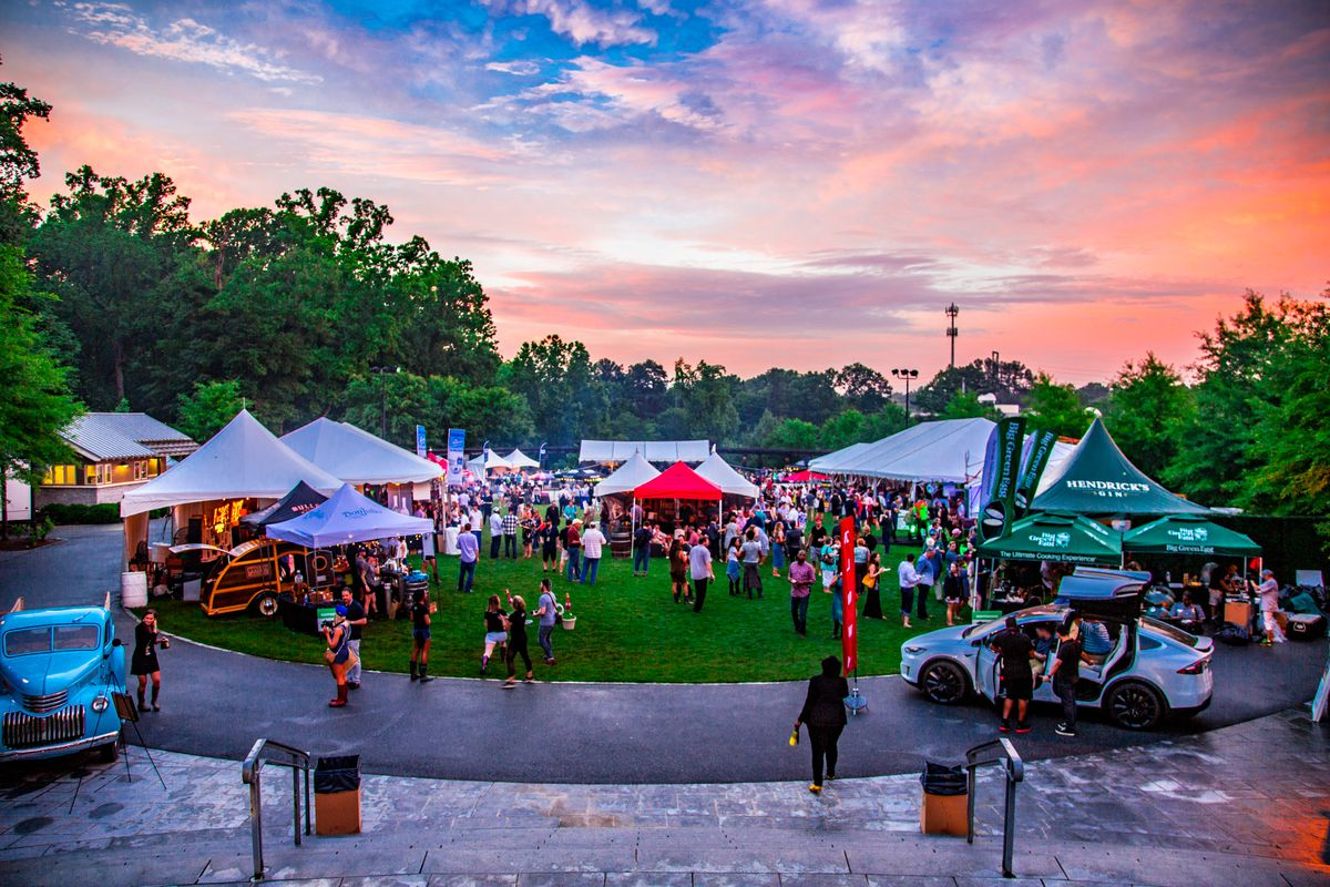 Post-storm sky at the Friday evening 2018 tasting tents at Piedmont Park
